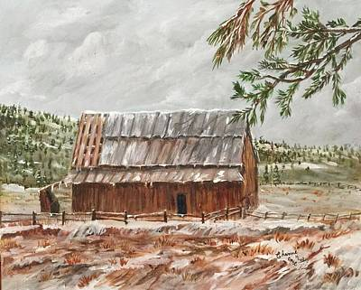 Painting - Barn In Winter by Charme Curtin