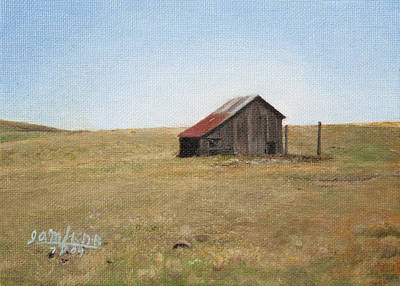 Barn Art Print by Joshua Martin