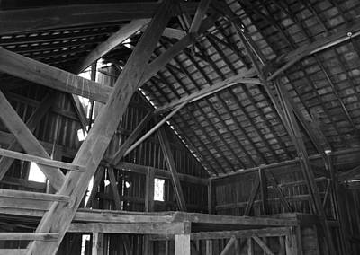 Curated Beach Towels - Barn Loft BW by Jeff Roney