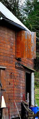 Jerry Sodorff Royalty-Free and Rights-Managed Images - Barn Loft Door 6929 by Jerry Sodorff