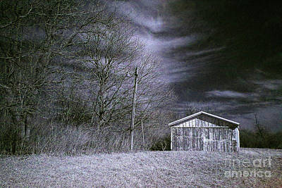 Barn Lot Infrared Art Print by Alan Look