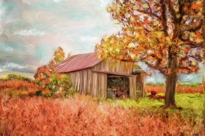 Mixed Media - Barn Memories by Mary Timman