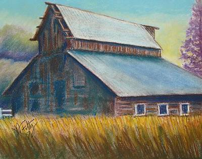 Pastel - Barn by Michael Foltz