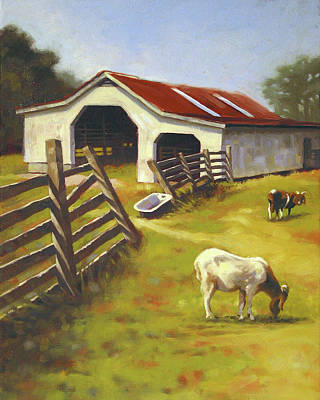 Shed Painting - Barn N Goats by Todd Baxter
