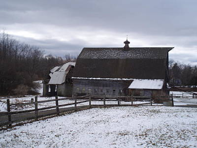 Digital Art - Barn Near New Paltz Ny by Robert Habermehl