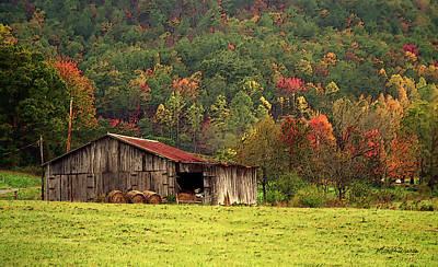 Photograph - Barn North Carolina 1994 by Michelle Constantine