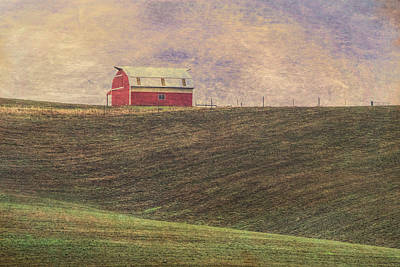 Photograph - Barn On A Hill by Bonnie Bruno