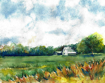 Painting - Barn On Highway 53 In Southeaset Missouri Bootheel by Jacki Kellum