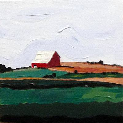 Painting - Barn On The Hill by Kevin Callahan