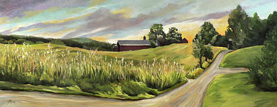 Painting - Barn On The Ridge by Nancy Griswold