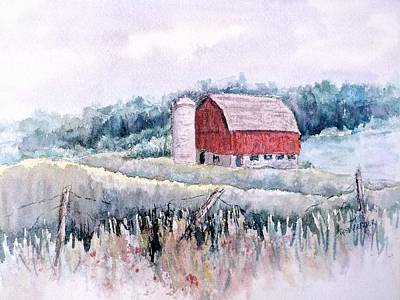 Painting - Barn On Weinman Road by Carolyn Rosenberger