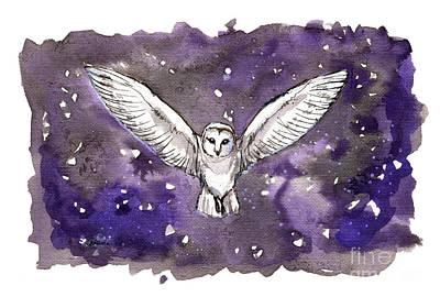 Painting - Barn Owl 2018 05 18 by Angel Ciesniarska