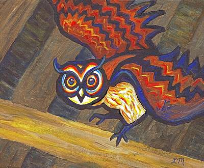 Owl Painting - Barn Owl 801 by Linda Mears