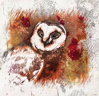 Painting - Barn Owl Art by Tina LeCour