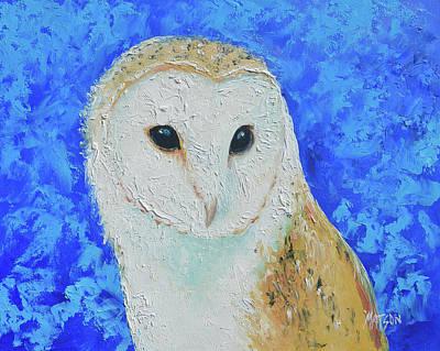 Painting - Barn Owl by Jan Matson