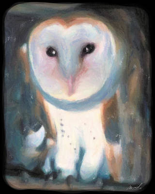 Barn Owl Art Print by The Art of Marsha Charlebois