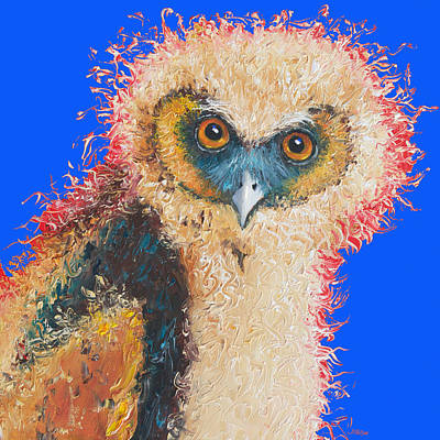 Art For Childrens Room Painting - Barn Owl Painting by Jan Matson