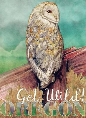Beverly Brown Fashion Rights Managed Images - Barn Owl Watercolor Art Royalty-Free Image by Kara Skye