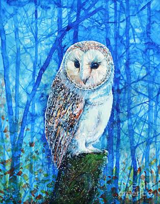 Painting - Barn Owl by Zaira Dzhaubaeva