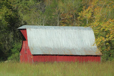 Photograph - Barn Painted - Autumn 7152 by Ericamaxine Price