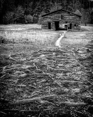 Photograph - Barn Path by Alan Raasch