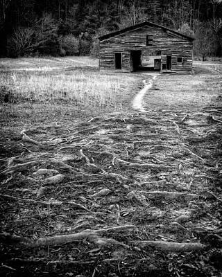 Photograph - Barn Path by Alan Raasch