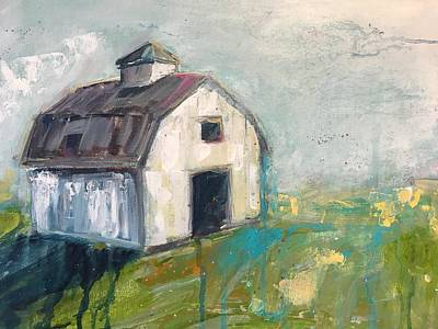 Painting - Barn Raising by Dave Baysden
