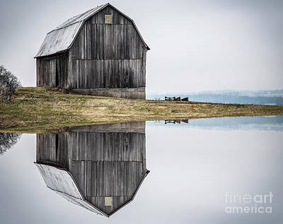 Photograph - Barn Reflection by Joann Long