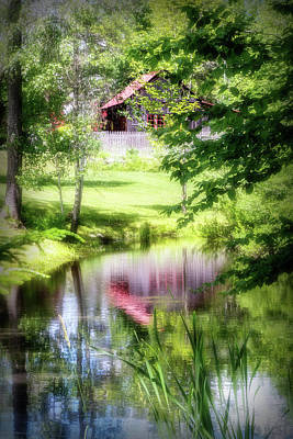 Barn Reflection Art Print by Terry Davis