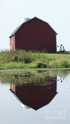 Photograph - Barn Reflections by Erick Schmidt