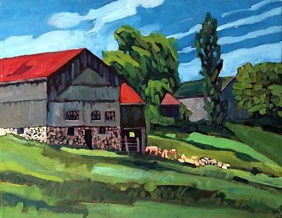 Barn Roofs Original by Phil Chadwick