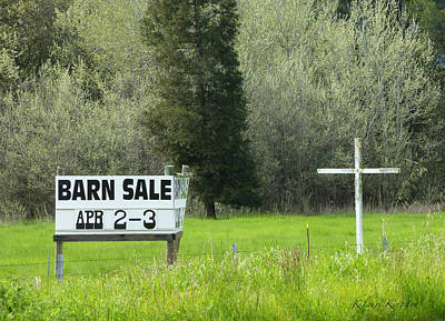 Photograph - Barn Sale by K L Kingston