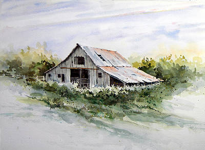 Shed Painting - Barn by Sam Sidders