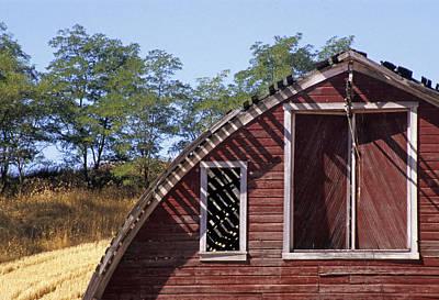 Photograph - Barn Shadows by Doug Davidson