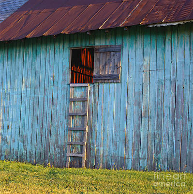 Barn Shadows. Vermont Art Print