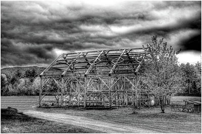 Photograph - Barn Shell Monochrome by Wayne King