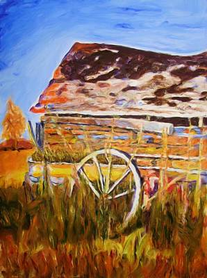 Painting - Barn by Shelley Bain