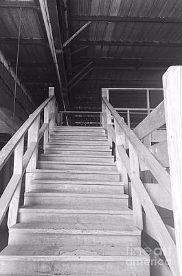 Photograph - Barn Stairs by Robin Lewis