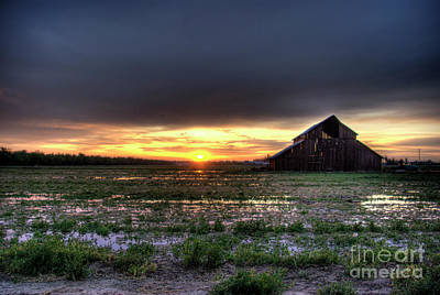 Photograph - Barn Sunrise by Jim And Emily Bush