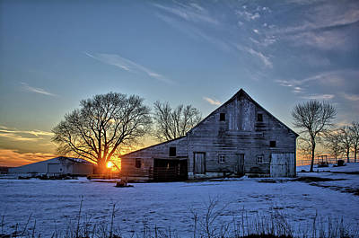 Photograph - Barn Sunset by Bonfire Photography
