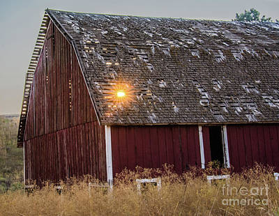 Photograph - Barn Sunset by John Greco