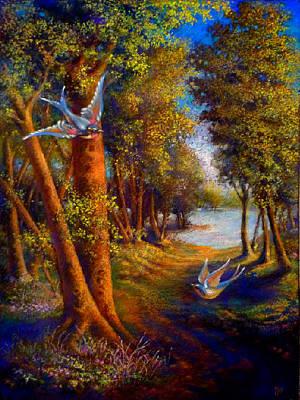 Barn Swallow Lake Art Print by Paul Birchak