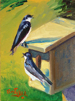 Barn Swallow Residence Original by Tom Fisher