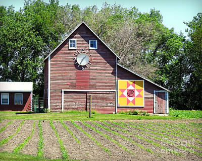 Barn Time And Quilts Art Print by Kathy M Krause