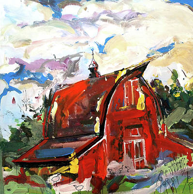 Painting - Barn Two by John Jr Gholson