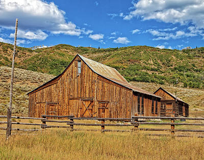 Photograph - Barn View by Ronald Lutz