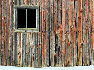 Photograph - Barn Window 7 by Mary Bedy