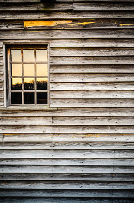 Photograph - Barn Window At Sunset by Anthony Doudt