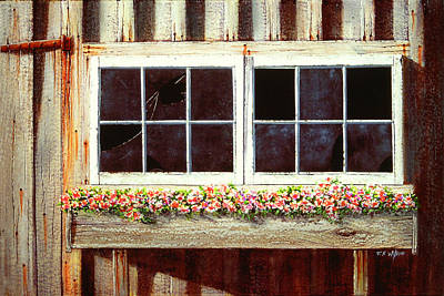Painting - Barn Window Box by Frank Wilson