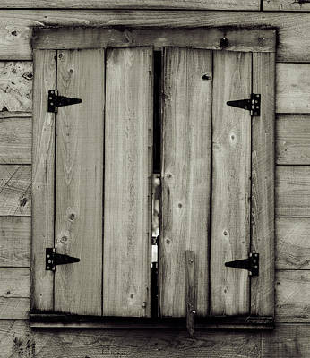 Photograph - Barn Window by Printed Pixels
